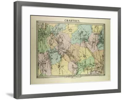 Map of Chartres France--Framed Giclee Print