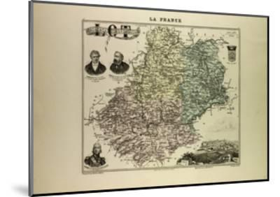 Map of Lot 1896 France--Mounted Giclee Print