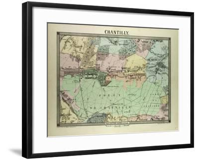 Map of Chantilly, France--Framed Giclee Print