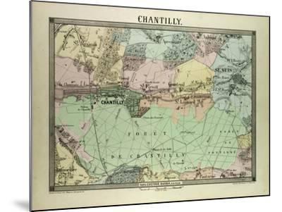 Map of Chantilly, France--Mounted Giclee Print