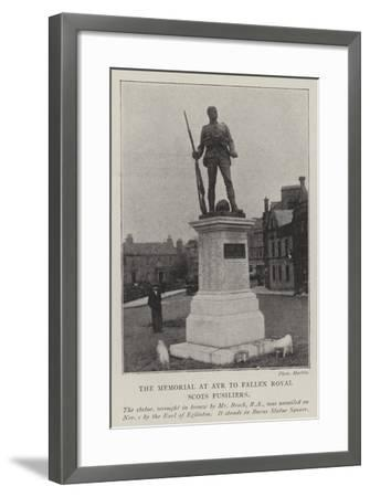 The Memorial at Ayr to Fallen Royal Scots Fusiliers--Framed Giclee Print