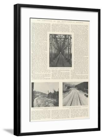 The Completion of the Trans-Siberian Railway--Framed Giclee Print