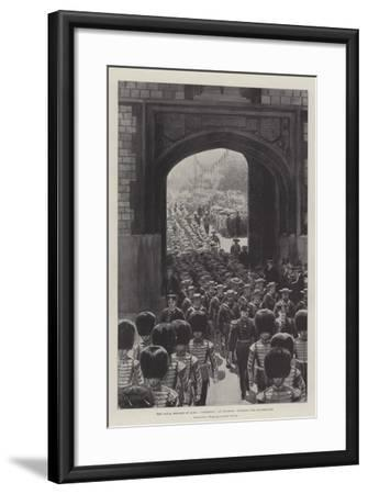The Naval Brigade of HMS Powerful at Windsor, Entering the Quadrangle--Framed Giclee Print