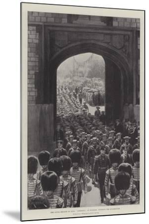 The Naval Brigade of HMS Powerful at Windsor, Entering the Quadrangle--Mounted Giclee Print