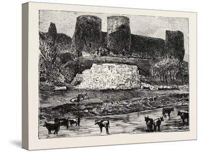 Rhuddlan Castle--Stretched Canvas Print