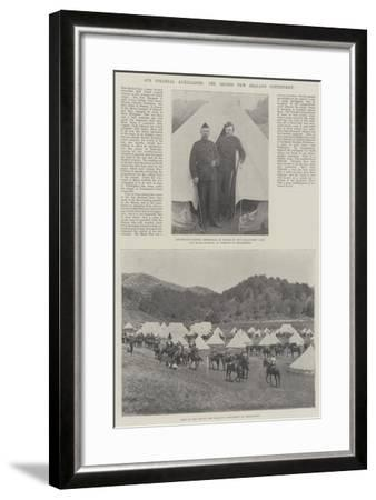 Our Colonial Auxiliaries, the Second New Zealand Contingent--Framed Giclee Print