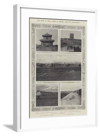 The Crisis in China, Scenes in Tientsin after the Bombardment--Framed Giclee Print