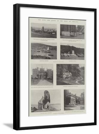 The King and Queen in the West of England--Framed Giclee Print