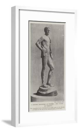 The Recent Discovery at Pompeii, the Statue of Perseus--Framed Giclee Print
