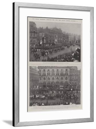 The Royal Progress Through the City and South London, 25 October--Framed Giclee Print