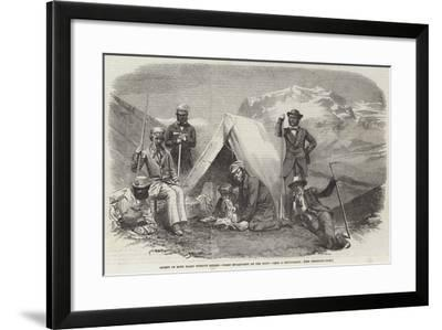 Ascent of Mont Blanc Without Guides, Night Encampment on the Snow--Framed Giclee Print