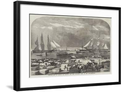 Embarkation of Cattle at Trieste for the Auxiliary Army in the East--Framed Giclee Print