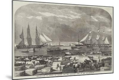 Embarkation of Cattle at Trieste for the Auxiliary Army in the East--Mounted Giclee Print