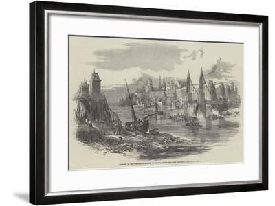 Remains of the Suspension-Bridge at Angers, after the Late Accident--Framed Giclee Print