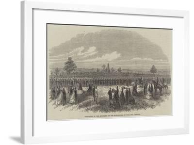 Dedication of the Monument on the Battle-Field of Bull Run, Virginia--Framed Giclee Print