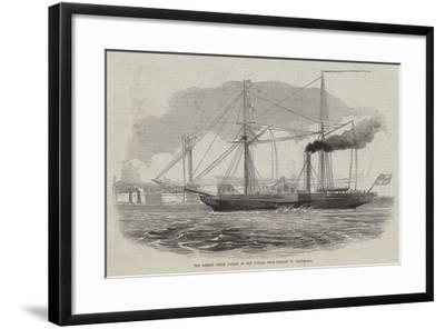 The Ardent Steam Packet on Her Voyage from Trieste to Alexandria--Framed Giclee Print