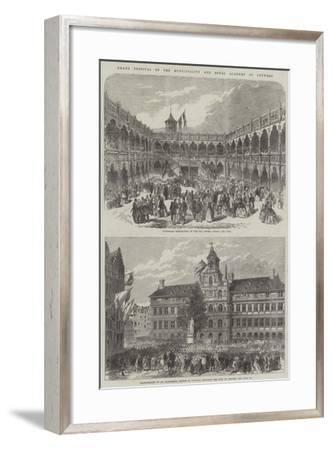 Grand Festival of the Municipality and Royal Academy of Antwerp--Framed Giclee Print