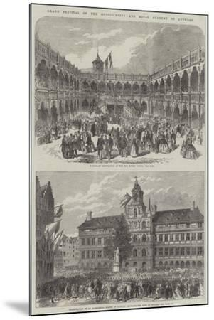 Grand Festival of the Municipality and Royal Academy of Antwerp--Mounted Giclee Print