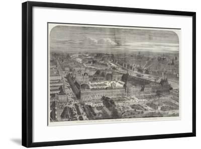 Panoramic View of Paris, with the Louvre and Rue De Rivoli Completed--Framed Giclee Print