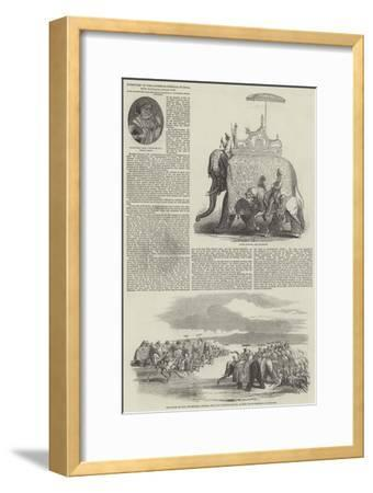 Interview of the Governor-General of India with Maharaja Goolab Sing--Framed Giclee Print