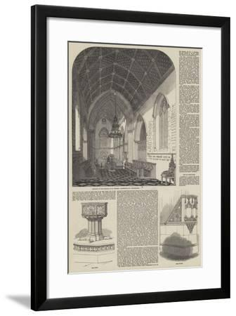 Consecration of the Church of St Stephen the Martyr in Westminster--Framed Giclee Print