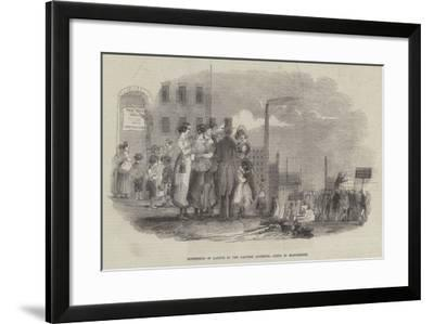 Suspension of Labour in the Factory Districts, Scene in Manchester--Framed Giclee Print
