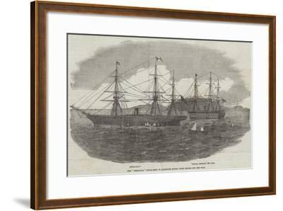 The Himalaya Steam-Ship in Plymouth Sound, with Troops for the War--Framed Giclee Print