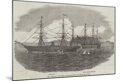 The Himalaya Steam-Ship in Plymouth Sound, with Troops for the War--Mounted Giclee Print