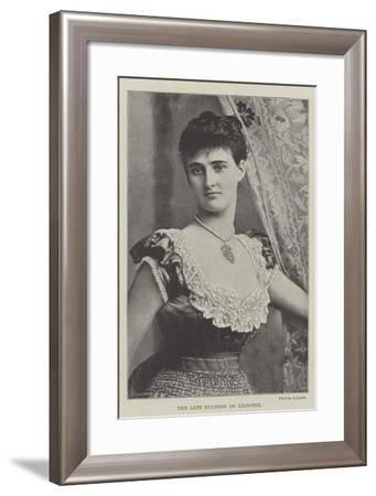 The Late Duchess of Leinster--Framed Giclee Print