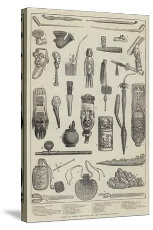 Ancient and Curious Tobacco-Pipes, from the International Exhibition--Stretched Canvas Print