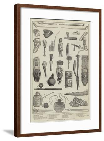 Ancient and Curious Tobacco-Pipes, from the International Exhibition--Framed Giclee Print