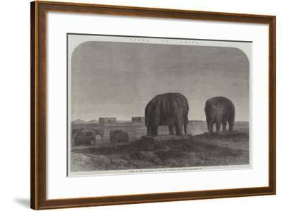 Views in China, Tombs of the Emperors of the Ming Dynasty, at Nankin--Framed Giclee Print