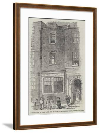 Birthplace of the Late Mr Turner, Ra, Maiden-Lane, Covent-Garden--Framed Giclee Print