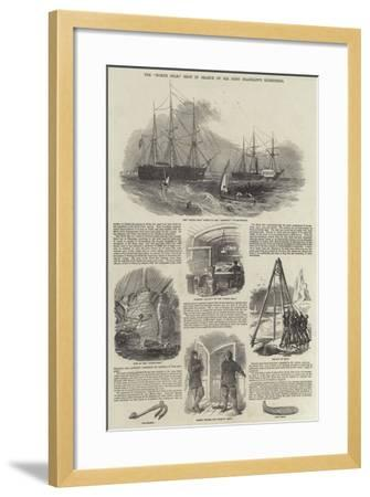 The North Star, Sent in Search of Sir John Franklin's Expedition--Framed Giclee Print