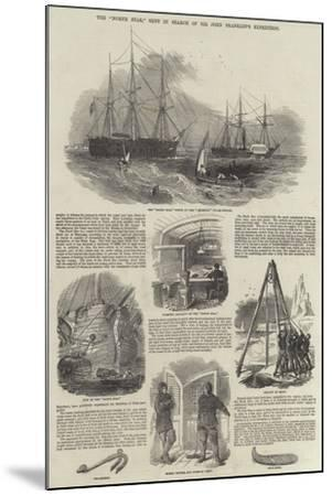 The North Star, Sent in Search of Sir John Franklin's Expedition--Mounted Giclee Print