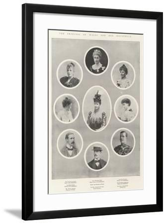The Princess of Wales and Her Household--Framed Giclee Print