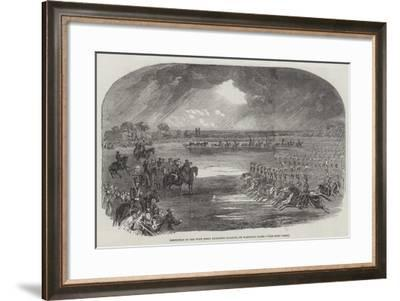 Inspection of the West Essex Yeomanry Cavalry, on Wanstead Flats--Framed Giclee Print