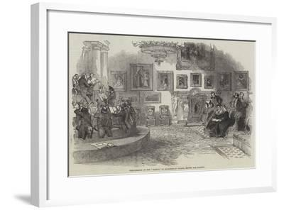 Performance of the Oedipus, at Buckingham Palace, before Her Majesty--Framed Giclee Print