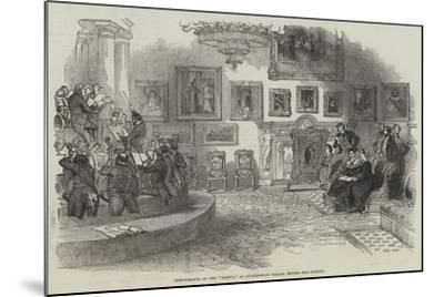 Performance of the Oedipus, at Buckingham Palace, before Her Majesty--Mounted Giclee Print