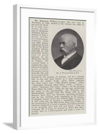 Mr B Williams-Leader--Framed Giclee Print