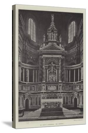 St Paul's Cathedral, the Reredos--Stretched Canvas Print