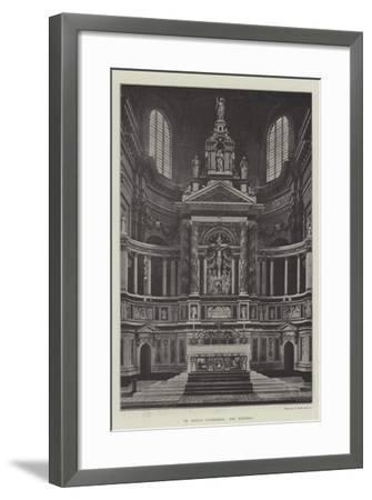 St Paul's Cathedral, the Reredos--Framed Giclee Print