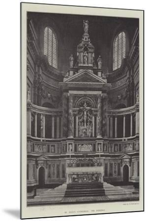 St Paul's Cathedral, the Reredos--Mounted Giclee Print
