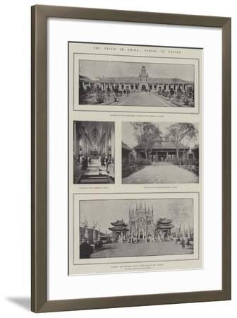 The Crisis in China, Scenes in Peking--Framed Giclee Print