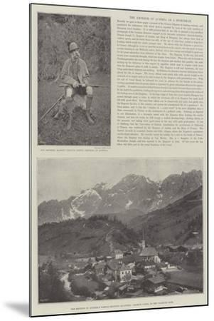 The Emperor of Austria as a Sportsman--Mounted Giclee Print