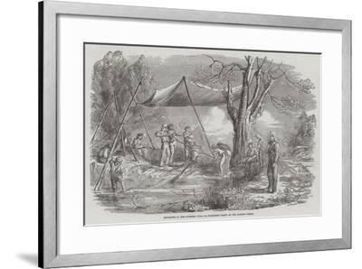 Incidents of the Burmese War, a Watering Party at the Bassein Creek--Framed Giclee Print