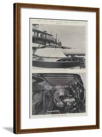 The First-Class Battle-Ship Majestic--Framed Giclee Print