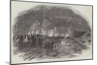 Torchlight Launch of the Iron Screw Steamer Azoff, in the Clyde--Mounted Giclee Print