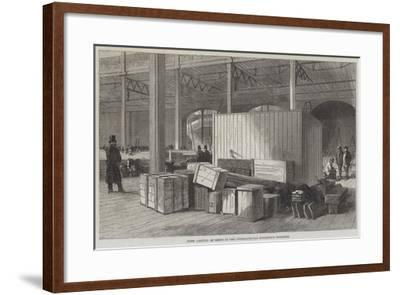 First Arrival of Goods at the International Exhibition Building--Framed Giclee Print