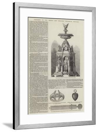 Presents to the Prince and Princess Frederick William--Framed Giclee Print